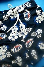 Miller Lite Beer Board Shorts Medium Men's Swim Trunks / Swimsuit