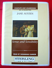 Jane Austen Sense And Sensibility 10-Tape UNABRIDGED Audio Book Susannah Harker