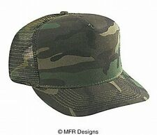 BLANK Solid Camo Cotton Mesh Snap Back Cap Trucker Mesh Hat