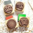 Large Oreo Rubber Stamps- Eiffel Tower Lace Butterfly Crown + Ink Pad