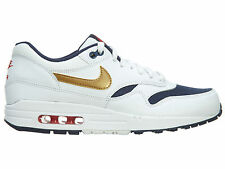 Nike Air Max 1 Essential Olympic Mens 537383-127 White Gold Navy Shoes Size 13