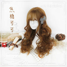 Japanese Dolly Lolita Harujuku Sweet Cosplay Women Princess Curly Hair Long Wig