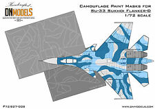 Camouflage Paint Mask Su-33 Flanker-D Sukhoi 1/72 scale DN Models
