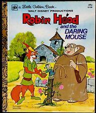 DISNEY'S ROBIN HOOD & THE DARING MOUSE ~ Children's Little Golden Book