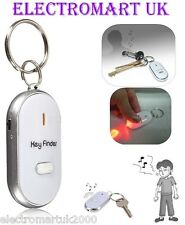 WHISTLE WHISTLING FLASHING KEY RING FINDER LOCATOR WITH RED LED TORCH