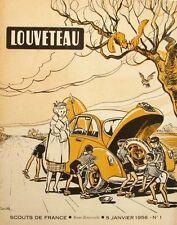 Louveteau n°1- 1956 - Scout de France - Fabrication d'un Banc - Les Voitures