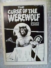1982 Theatre Programme- THE CURSE OF THE WEREWOLF by Ken Hill,Ian Aemit