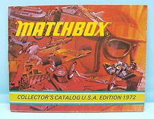CH000 MATCHBOX / CATALOGUE USA EDITION 1972