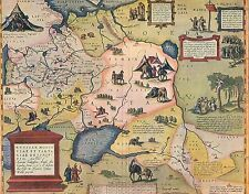 Carte de l'empire russe -Ortelius 1571 - Russie - Russia -Offset litho -Ca. 1900