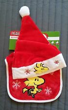 SNOOPY/Woodstock BABY BAVAGLINO + BERRETTO/Baby 's 1st Christmas/Nuovo & OVP