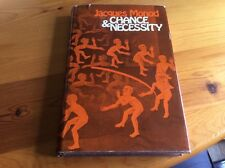 Chance And Necessity Jacques Monod Hb Dj 1St Edition 1972 Seminal Work Nobel Pr
