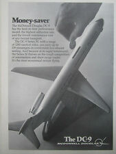 1/1977 PUB MCDONNELL DOUGLAS AIRCRAFT AVION DC-9 AIRLINER MODEL ORIGINAL AD