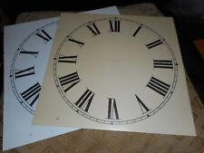 """Paper Clock Dial - 10"""" M/T - Roman Numerals -Matt Cream- Face / Clock Parts"""