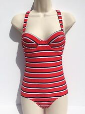 $225 NWT J Crew Womens One Peice Red/multi Swimming Suit Sz. 2