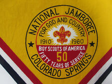 1960 Boy Scouts National Jamboree Scarf BSA 50 Year Anniversary Colorado Springs
