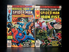 COMICS: Marvel Team-up #63-64 (1977) set, Spiderman/Iron Fist - RARE