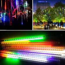 30/50cm 240LED Lights Meteor Shower Rain 8Tube Snowfall Xmas Tree Garden Outdoor