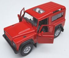 BLITZ VERSAND Land Rover Defender rot / red Welly Modell Auto 1:34-39 NEU & OVP