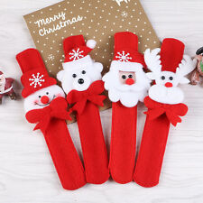 4P Lot Christmas Cute Slap Bracelet/Bangle Xmas Decor Party Pat Circle Hand Ring