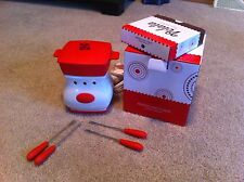 Maraschino Curve Velata Cheese And Chocolate Fondue Warmer With Forks