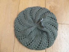 MONSOON ACCESSORIZE SAGE GREEN CHUNKY KNITTED BERET HAT ONE SIZE 57CM BNWT