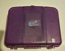Vtg Purple Caboodles Cosmetic Metallic Large Color Collisions-Mirror sparkles