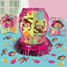 Monkey Love Table Decorating Kit Centerpiece Mod Luau Pink Girl