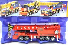 SIKU 4010 Large 5 Axle FAUN Telescopic Hydraulic CRANE in FEUERWEHR MIB