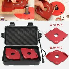 Red Aluminium Wood Panel Radius Quick-Jig Router Table Bits Jig Corner Templates