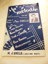 Partition Ma Mélodie Marcel d'Anela 1957