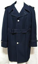 Best Dressed Season Mates All Weather Trench Coat Navy Blue Sailor Buttons 40 R