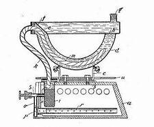 Antikes Bügeleisen/Plätteisen (Kohle-/Dampf-/Elektro-): 2500 S. 1889-
