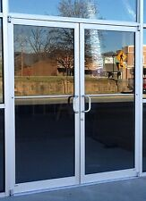 COMMERCIAL STOREFRONT DOOR, FRAME AND CLOSER 6'0 X 7'0 PAIR, NEW BRONZE or CLEAR