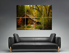 Forest House Maison Forêt Nature Landscape Wall Art Poster A0 Large print