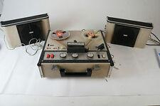 Sony tc-200 vintage tubes magnétophone table vérifié avec 2 haut-parleur tube