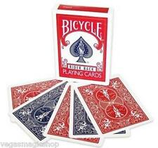 Red / Blue Double Back Deck Bicycle Playing Cards USPCC - 4 Various Magic Tricks