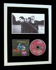 CROWDED HOUSE+SIGNED+FRAMED+DREAM+UNIVERSE+WEATHER=100% GENUINE+FAST WORLD SHIP