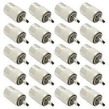 NEW 20 pack lot UHF PL-259 male solder on RF connector plugs for RG8 coax cable