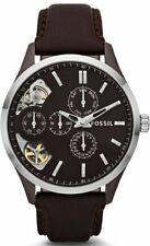 Fossil ME1123 Mens Twist Automatic Day Date Analog Brown Leather Band Watch