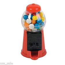 "Classic Vintage Red Bubble Gum Machine Mini Candy Dispenser 7"" Gumball Machine"
