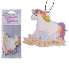 UNICORN Hanging Air Freshener Sparkle Berry Scent I Don't Believe in Humans