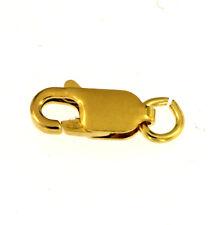 3x Karabinerhaken 11 mm flach vergoldet 925/000 Kettenverschluß Schmuckzubehör