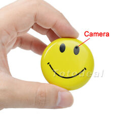 Smile Face Badge Mini HD Spy Camera DVR Video Recorder Hidden Camcorder PC Cam