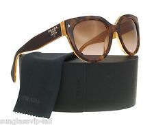 *NEW AUTHENTIC PRADA PR 17OS FAL1Z1 TOP LIGHT HAVANA/OPAL YELLOW, BROWN GRADIENT