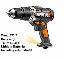 WORX 20V 372.7 HAMMER DRILL BODY (BATTERIES AND CHARGER NOT INCLUDED)