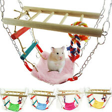 Pet Hamster Mouse Gerbil Cage Accessory Hanging Suspension Bridge Ladder Toy