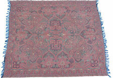 19th Century Antique Kashmir Paisley Shawl Scarf 140x167 cm L60