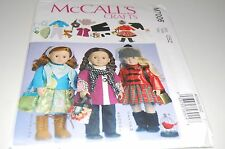 """McCalls Pattern # M7006 - Girl 18"""" Doll Clothes - Three Outfits - NEW"""