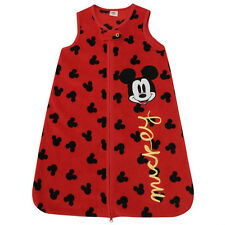BNIP DISNEY Mickey Fleece Winter Sleeping Bag Zip Blanket Grow Bag 3-6M (A25)
