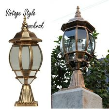 Antique Outdoor Pillar Lamp Fence Post Cap Waterproof Top Lantern Garden Lights